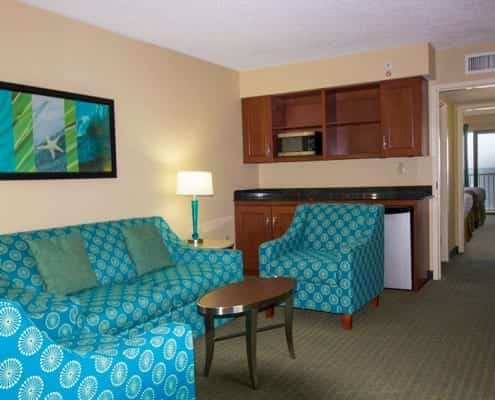 Virginia Beach hotel - oceanfront 2 queen bed suite