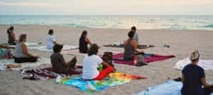 beach yoga - hotel events activities