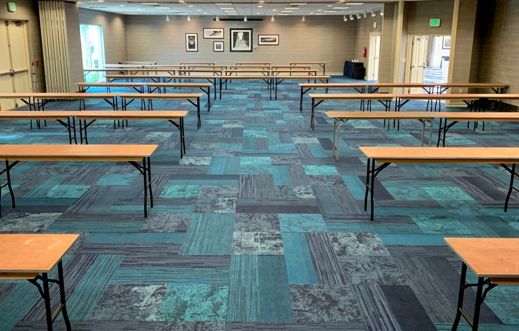 virginia beach events - event space - event planning - venues for conferences & meetings Phase 2 Social Distancing Compliant Meeting Set-up