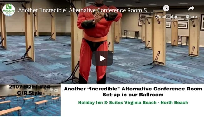 virginia beach events - event space - event planning - venues for conferences & meetings : Alternative Conference Room Set-up in our Ballroom