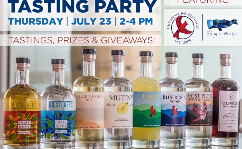 Summer Tasting Series at the Square Whale with Chesapeake Bay Distillery   Virginia Beach Hotel & restaurants