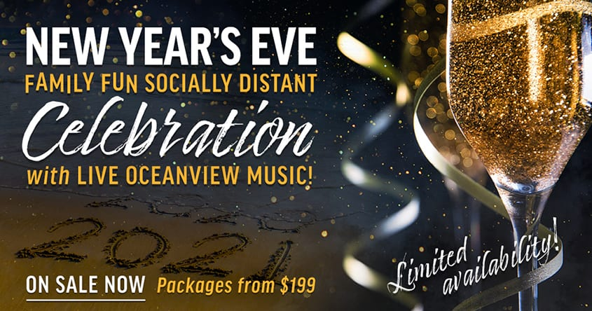 New Year's Eve Family Fun Socially Distant Celebration with Live Oceanview Music | Virginia Beach Hotel