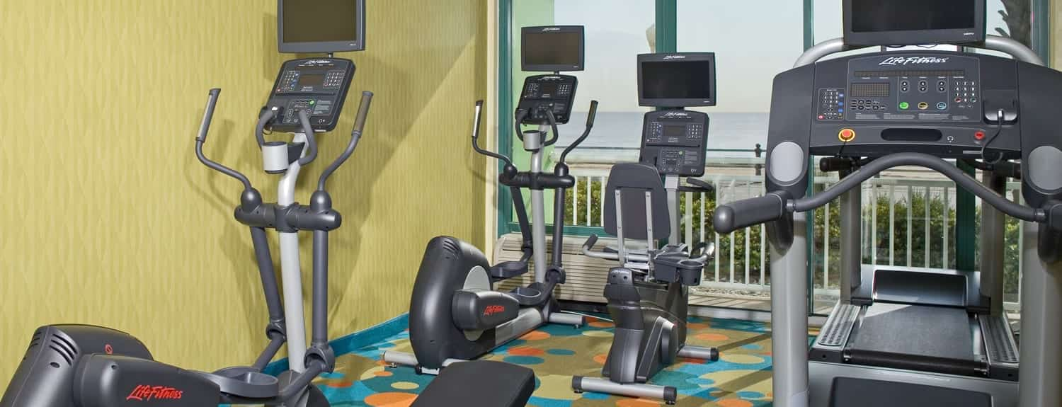 Virginia Beach Hotels - oceanfront Holiday Inn Virginia Beach Oceanside Fitness Center